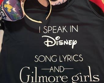 Disney and Gilmore Girls shirt