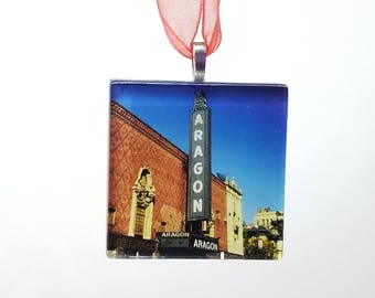 Aragon Ballroom - Handmade Glass Photo Ornament