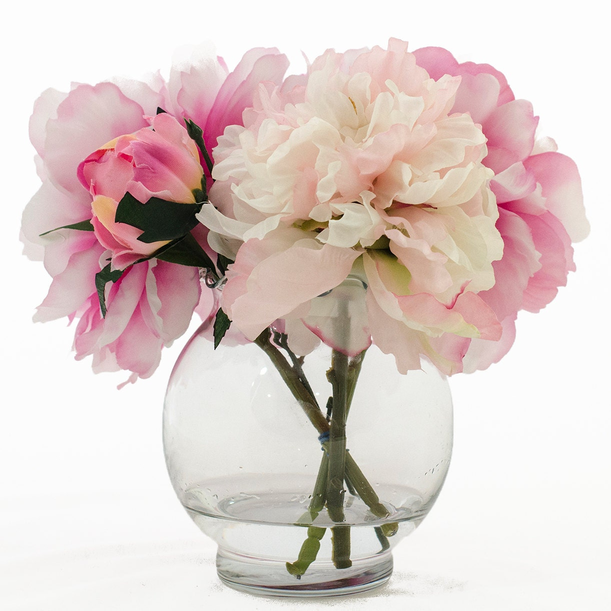Fuchsia light pink peonies and buds arrangement faux flowers zoom reviewsmspy