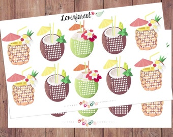 hydrate stickers| water stickers for planner| water tracker stickers| FL015