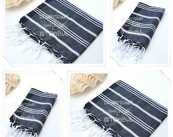 DISH TOWEL SET of 4 Peshkir Face Towel Hair Towel Tea Towel Kitchen Towel Hand Towel Head Towel Guest Towel Bathroom Towel Gift Towel