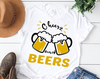 Cheers & Beers svg, 30 birthday drink svg, Cheers and beers svg, Beer svg, Beer Mugs svg, Beer clipart, SVG, DXF, eps, png, pdf, Beer shirt