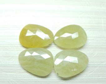 1 Piece - Natural Sapphire Faceted Both Side Rose Cut Fancy Slices - 20x15 MM - Loose Gemstones - High Quality - Sapphire Slices