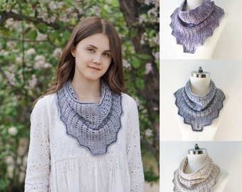 Elegant Lace Infinity Scarf, Summer infinity scarf, all season scarf, available for order in gray, ivory or lavender, Woman's scarf