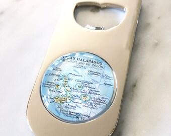 Galapagos Islands Map Bottle Opener - As Seen in Imbibe Magazine - Beer Opener - Wedding Favor - Housewarming Gift - Groomsman Gift