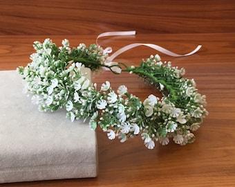 Floral crown wedding headband bridal floral crown flower head wreath girl flower crown Wild flower crown rustic flower crown wedding crown