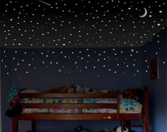 Glow in the Dark Stars, 1000+ Ceiling Stars, Glow Stars, glowing stars, Ceiling Stickers, glow-in-the-dark stars, Kids Room Decor