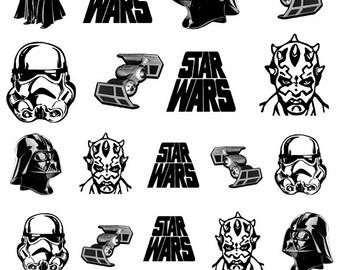 Star Wars Nail Decals - Darth Vader//Maul//Stormtrooper