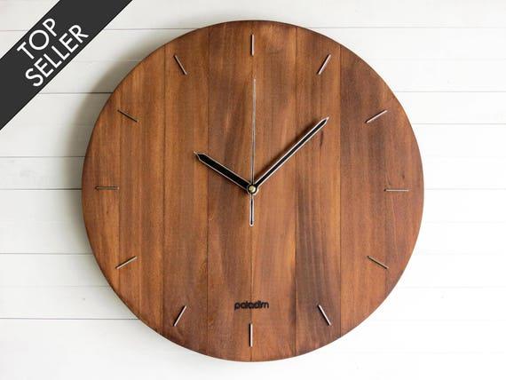 Wall Clock, Steampunk Wall Clock, Modern Clock, Wooden Wall Clock, Living  Room Decor, Big Oval, Round Clock, Office Clock, Wooden Gift