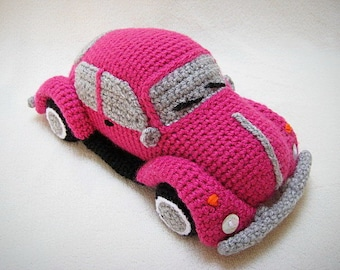 Amigurumi VW Beetle Volkswagen Inspired VW Bug Car Crochet Pattern PDF