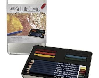 Still Life Drawing Art Set; Sketching Pencils, Pastels Small Tin Gift Set; Royal & Langnickel