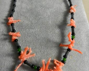 Vintage Branch Coral Bead Necklace
