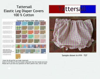 Diaper CoverTattersal unlined Pick from over 30 color combinations Tatterall Diaper Cover Bloomers Ruffle Diaper Cover TTSEB080