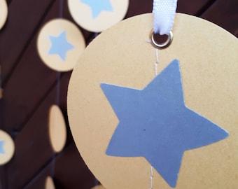 "Golden 2"" or 3"" circle garland, paper garland, Wedding decor, Party decor, Paper string decor"