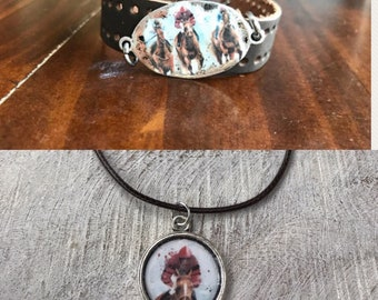 Derby necklace or bracelet
