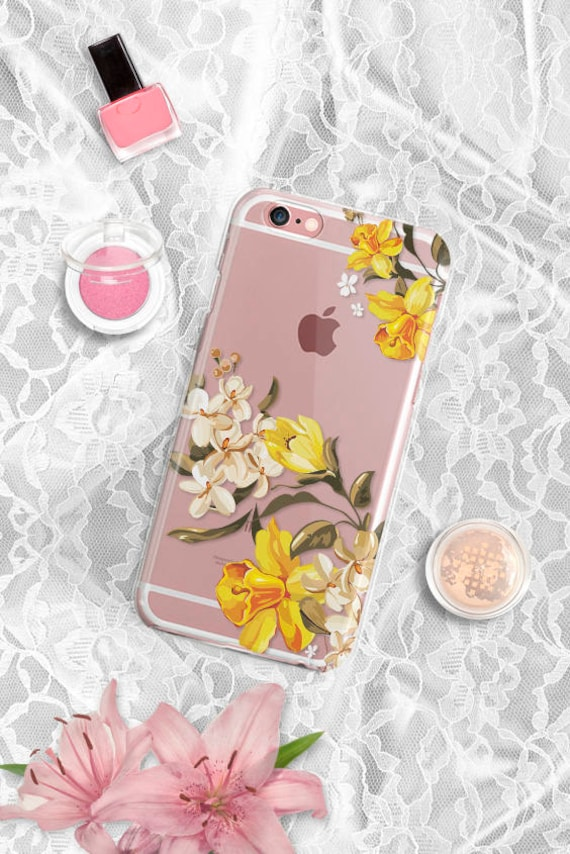 iPhone 8 Plus Case yellow floral iPhone X Case Clear iPhone 7 Plus Case Samsung Galaxy S8 Plus Case iPhone 6s Plus Case iPhone 6s Case