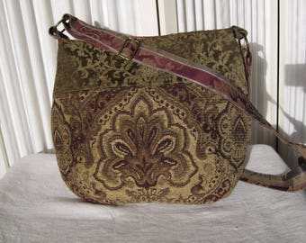 Renaissance Boho Hippie Gypsy Messenger cross body Purse tote bag