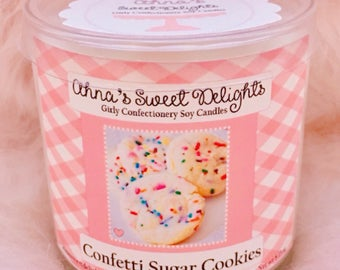 Confetti Sugar Cookies Girly Confectionery Soy Candle