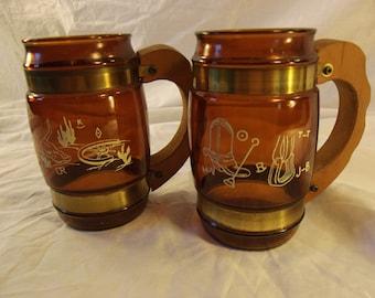 Pair of Vintage Western Themed Siesta Ware Mugs