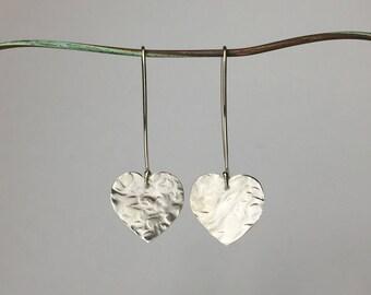 Sterling silver heart earings