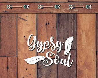 Gypsy Soul Decal | Yeti Decal | Yeti Sticker | Tumbler Decal | Car Decal | Vinyl Decal