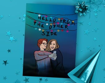 Stranger Things Card - Halloween - Adele - Pop Culture Card - Occassion Card