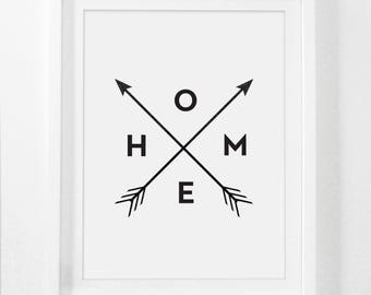 11x14 Wall Print, Home Art Prints, 5x7 Wall Art, 8x10 Art Print, Home Wall Art, Black and White Home Decor, 16x20 Wall Prints, Home Arrows