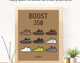 Digital Download Poster - Yeezy Boost 350 Collection Illustrated Poster