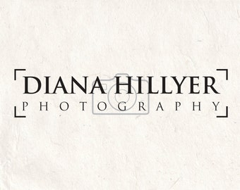 Photography logo design - photography watermark heart logo camera logo. Instant download DIY psd logo template