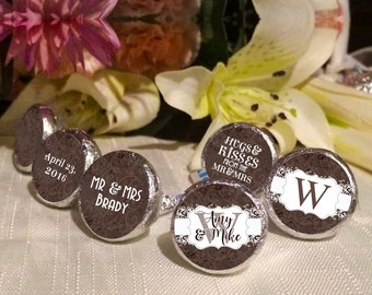 108 Kiss Labels - Hershey Kiss® Stickers -  Hershey Kiss Stickers - Candy Labels - Custom Labels - Wedding Favors - Candy Stickers