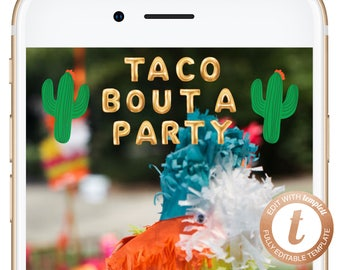 INSTANT DOWNLOAD Snapchat Geofilter Fiesta Snapchat Birthday Geofilter Taco Bout A Party Filter Mexican Fiesta Themed Filters Cacti Templett