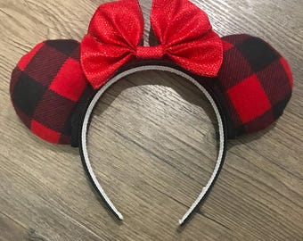 Buffalo Check Mouse Ears