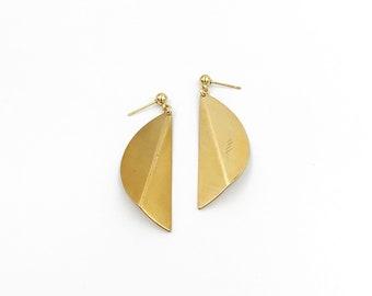 Folded Semi Circle Earrings
