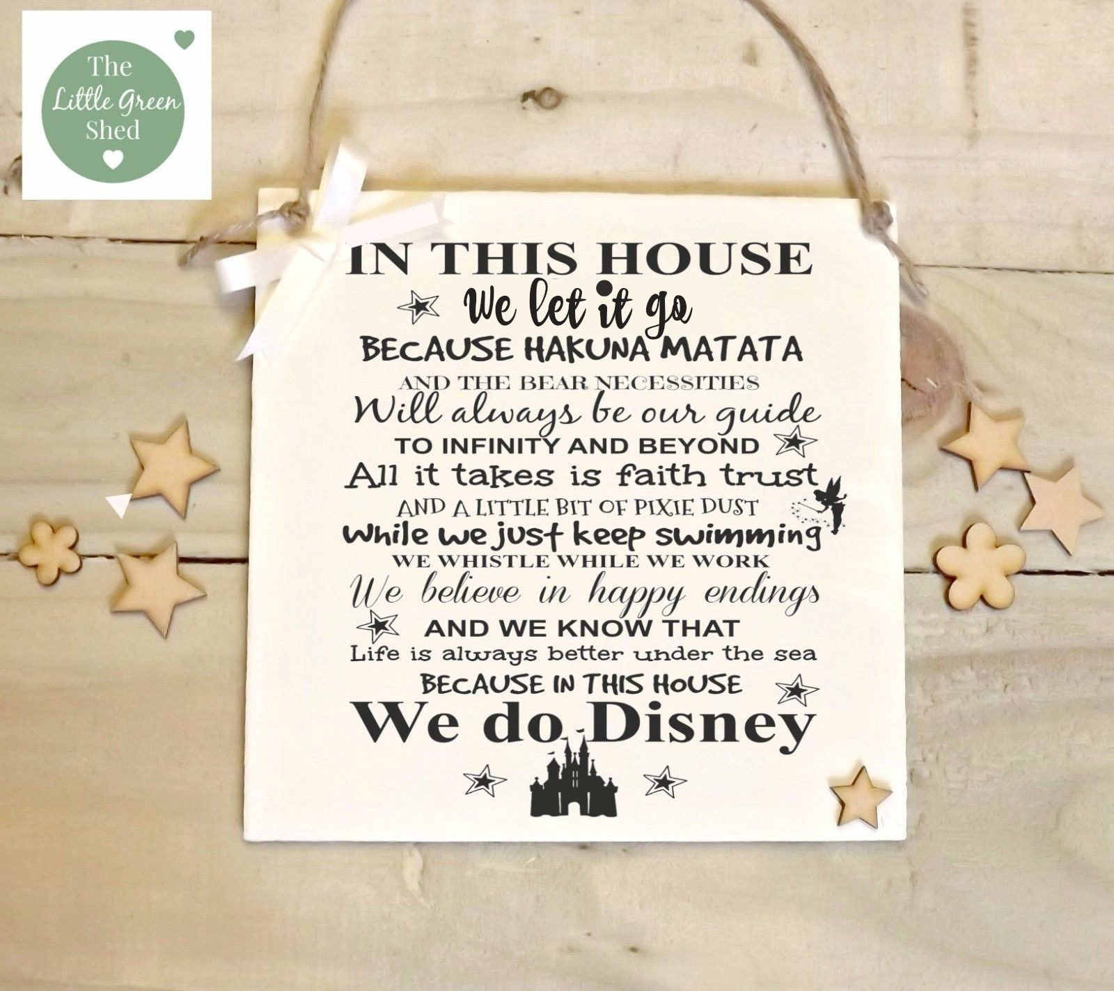 Disney Quote Plaques: Disney Quotes Plaque Nursery Birthday Sign In This House We