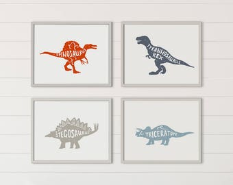 Printable Boy Room Decor, Boy Room Decorations, Dinosaur Decor, Dinosaur Wall Art, Boy Nursery Decor, Dinosaur Wall Decor, Boy Nursery Art
