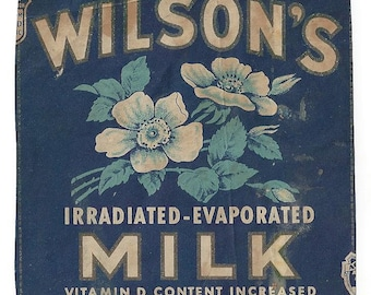 Wilson's Irradiated-Evaporated Milk Vintage Label/Premium, 1920-40's