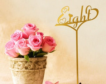 Gold Table Numbers.Sale  Gold Table Numbers With Base.Wedding  Numbers.