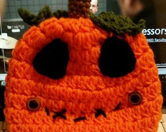 Halloween Pumpkin Crocheted Hat Pattern