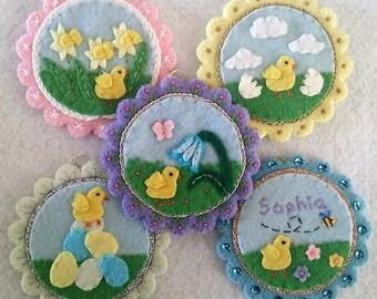 Felt kit for Easter felt decorations 'Chicks first day'