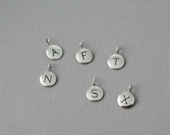 Add on Sterling silver Initial charm