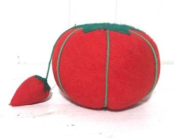 Vintage Tomato Strawberry Pincushion