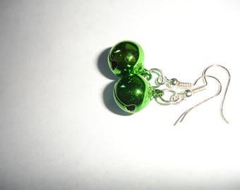 SALE *** Holiday Bell Earring Winter Earrings Simple Holiday Earrings Christmas Earrings Green  Bells Earrings Christmas earrings Party