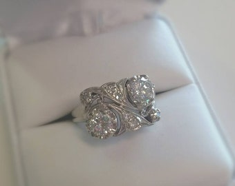 Vintage Romantic Hollywood Style Diamond Ring Size 6.5