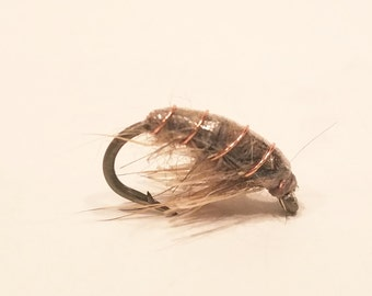 scud nymph, fly, fly fishing fly, trout, scud pattern,