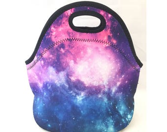 CC Neoprene Insulated Lunch Bag – Kids Lunch Bag - Office Lunch Bag – Lunch Box – Holiday Gift – Cooler Bag –Teacher Gift Nurse Gift –Galaxy