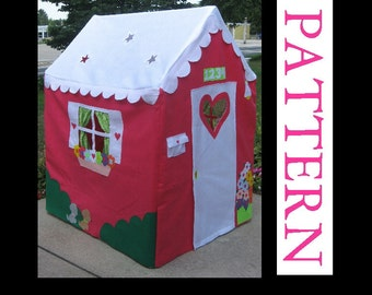 Fabric Indoor Playhouse Pattern, Sew a Large Playhouse to Fit a PVC Frame, ebook only, INSTANT download after purchase