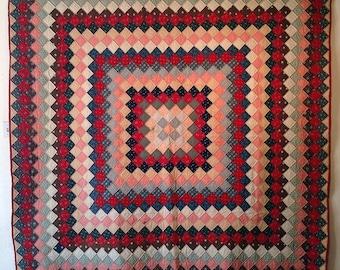 SALE 25% off! Bold, trip around the world vintage quilt
