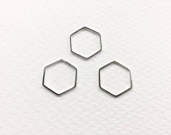 20 spacer hexagons 18mm silver jewelry designs