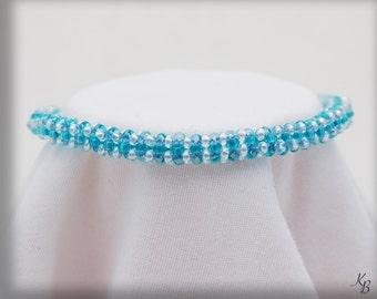 Teal & White Rope Bracelet