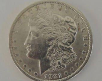 1921 Morgan Silver Dollar, Vintage Silver Dollar, Collectable Silver dollar, USA Coins, FREE Shipping